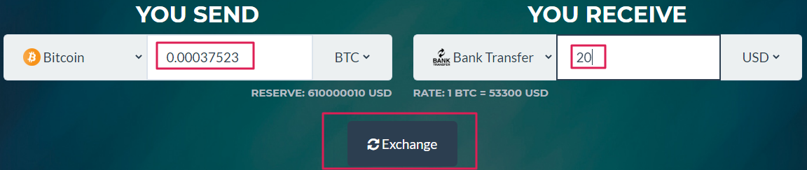 sell bitcoin at rand4dollar and receive cash